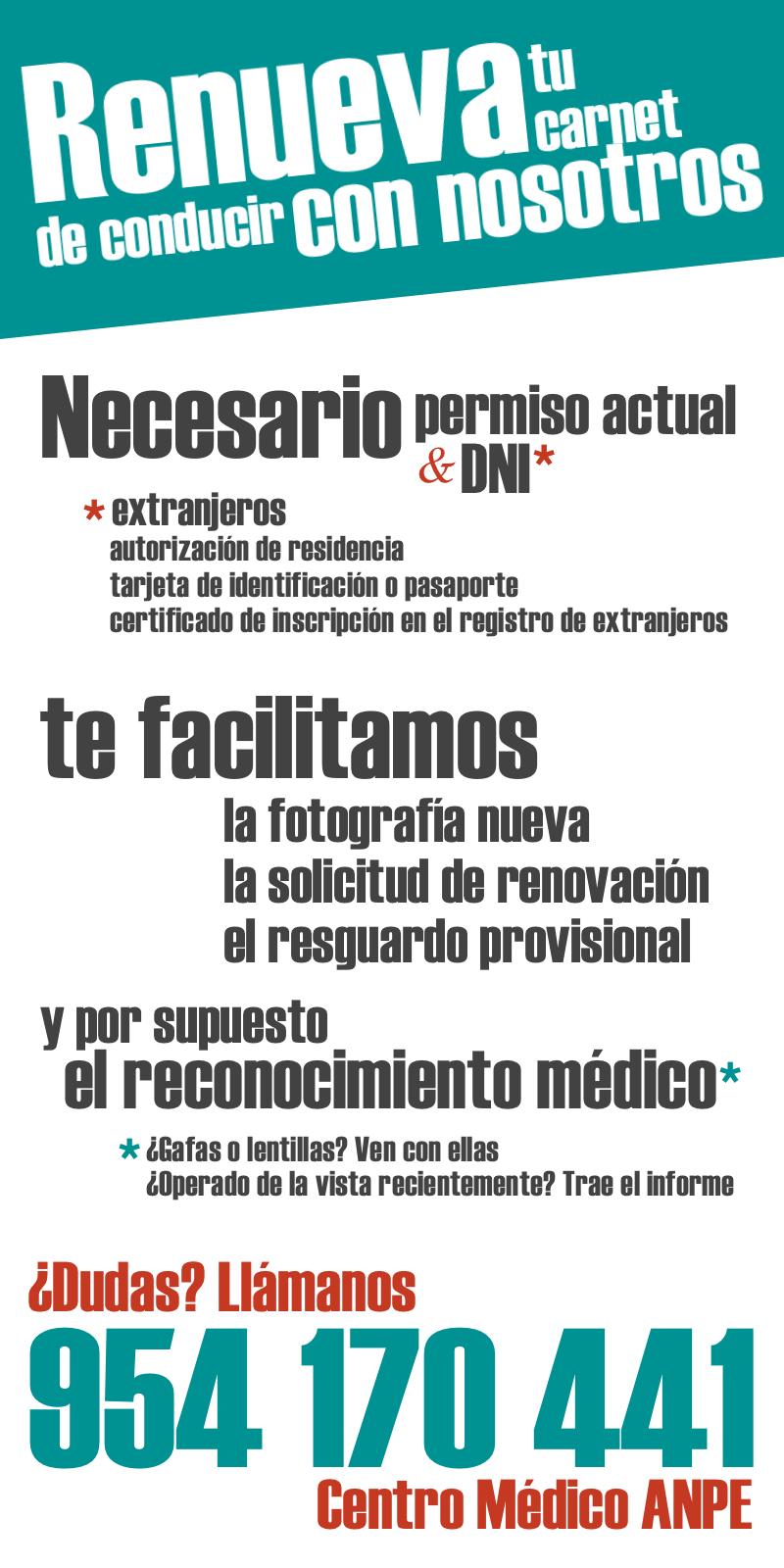 Infografía para conocer los pasos necesarios para renovar el permiso de conducir en un centro médico