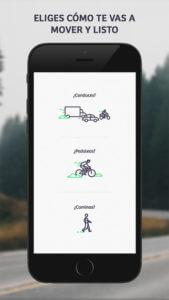 Captura de pantalla de la app Comobity, tipos de usuarios