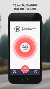 Captura de pantalla de la app Comobity sobre la cercanía de unas obras