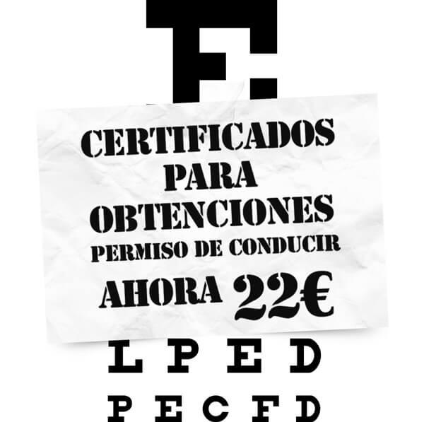 Certificados médicos para la obtención del permiso de conducir